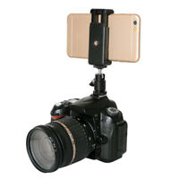 Mobile Phone Clip Holder with Hot Shoe Tripod Screw Mount Adapter for DSLR