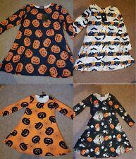 New Women Kids Children Halloween Costume Pumpkin Girl Skeleton Swing mini Dress