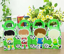 SOCCER LOLLY PARTY FAVOUR BOXES THEMED KID BIRTHDAY LOOT BAG SUPPLIES DECORATION