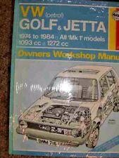 VW GOLF WORKSHOP MANUAL