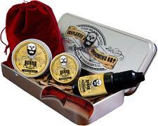 Best Mens Grooming Kit 6 piece, Moustache Wax,Beard Balm,Beard Oil,Comb & Case