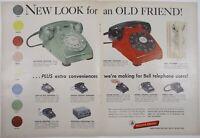 Vintage Original 1954 Western Electric Rotary Phone Print Ad