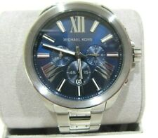 Michael Kors Men's Chronograph Wren Silver Tone Stainless Watch MK8765 NWT $275