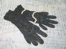 Antique Vintage Lace Gloves~Hand Made-Crochet Lace-Edwardian-Victorian-Steampunk