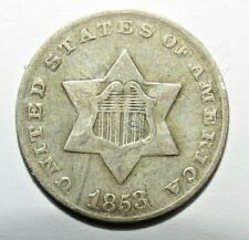 Silver Three Cents 1853