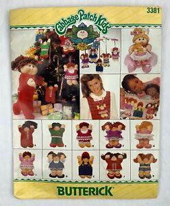 "Butterick 3381 Cabbage Patch Kids 6"" Christmas Ornaments Pattern Uncut"