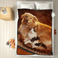 Photo Custom Blanket Collage Personalized Throw Gift For Baby Adult Pet Fleece