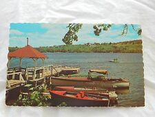 Vintage Postcard: Lakefield Landing, Pinewood Camps in Canton MA