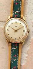 Rare LIP calendrier R23 C goldfilled vintage watch mecanic France NR