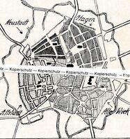 Braunschweig - Kleiner Stadtplan - um 1925 - selten!  M 24-1