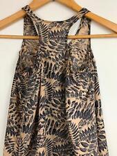 Zimmerman Girl's Ecru Black Botanical Silk Top 8 A14 ~ Free AU Shipping!