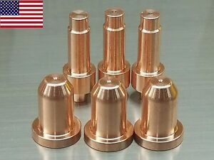 6pc x 770795 Nozzles + 770791 Electrodes for Hobart® AirForce 12ci Plasma System
