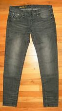 """See Thru Soul ~Size 29"""" W x 31""""~MOST WANTED Jeans ~Black-Gray /Skinny /Low Rise"""