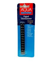 Aqua Culture: Digital Aquarium Thermometer - Sticker - Stick-on