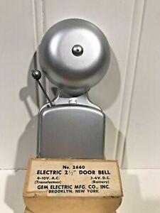 """VTG GEM Electric #2660 2.5"""" Steel Door Bell Ringer 3-6V. DC 6-10V AC Transformer"""