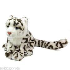 Real Stuffed Snow leopard Child COLORATA Plush animal Family Series