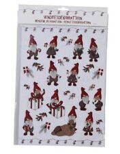 Weihnachten Deko Fenster Sticker Zwerge Wichtel H35xW25cm