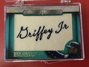 Rare Ken Griffey Jr. Historical Stiches Patch 2012 Topps