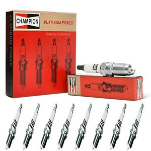 8 Champion Platinum Spark Plugs Set for 2002-2003 WORKHORSE FASTRACK FT1802