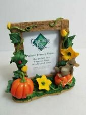 Fitz and Floyd Charming Tails Ceramic Photo Frame Pumpkin Harvest 93/108