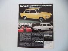 advertising Pubblicità 1973 DAF 44 BERLINA/STATIONCAR