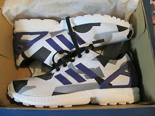 NEW ADIDAS ORIGINALS ZX FLUX WHITE/PURPLE/BLACK SIZE 12