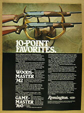 1978 Remington Woodsmaster 742 & Gamemaster 760 Rifles vintage print Ad