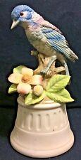 Vintage Royal Crown Blue Bird Music Box