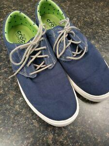 Crocs Citilane Lace Sneaker, Dual Comfort, Canvas Upper, Navy/White- Size M9