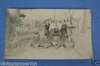 1917 Photo: 4 Men 6 Women in Town: Black & White VTG