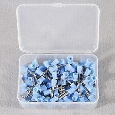 100pcs Dental Rubber Prophy Cup polishing cup Polieren latch type Blue DE