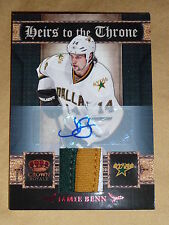 11-12 CROWN ROYALE Jamie Benn 13/25 3CLR PATCH AUTO Heirs to the Throne L@@K!!