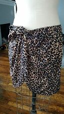 Pinup Girl Clothing Vamp Swimsuit Wrap Leopard Cover up Tie XL Plus PUG