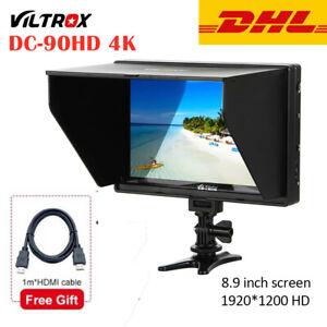 """Viltrox DC-90HD 4K 9"""" HDMI AV Camera DSLR Video Monitor LCD Full HD 1920*1200"""