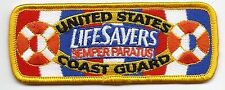 "United Staters Coast Guard (USCG) patch ""Lifesavers"" 1-1/2 X 4 Inches"