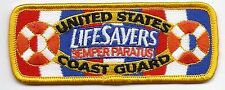 "United States Coast Guard (USCG) patch ""Lifesavers"" 1-1/2 X 4 Inches"