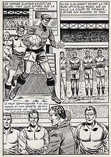 FINALE DE COUPE FOOTBALL (ROBERT HUGUES) PLANCHE ORIGINALE PILAR SANTOS PAGE 23