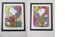 """TOM EVERHART """"TEA AT THE BEAGLE CLUB""""  3:00PM & 7:00 PM SUITE OF 2 COA FRAMED"""