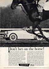 1960 Triumph TR-3 2-Door PRINT AD