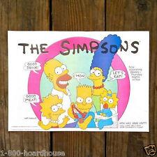 4 Original THE SIMPSONS Cartoon BURGER KING Promotional Paper Placemat 1990 NOS