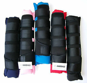 AMIDALE HORSE STABLE BOOTS / WRAPS, SET OF FOUR IN 5 COLORS BNWT
