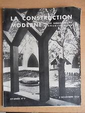 Revue - Catalogue construction moderne n°5 1937