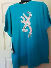 Realtree womens clothing size xl Teal with pink camo deer head logo new with tag