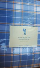 New Pottery Barn Kids BLUE Riley Twin SHEETS plaid