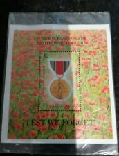 Liberia 1995 50th Anniversary End of the 2nd World War mini sheet Lest we forget