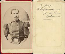 Général Herpin CDV vintage albumen. Tirage albuminé  6,5x10,5  Circa 186