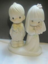 Precious Moments The Lord Bless You and Keep You 1979 Bride & Groom Figurines
