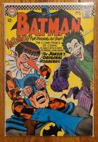 Batman #186 Nov 1966 Key 1st Appearance Gangy! HOT JOKER Story SOLID  MID GRADE!