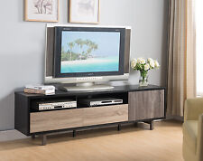 """151362 70"""" TV 3 Toned Stand Home Entertainment Media Center Console Storage Unit"""
