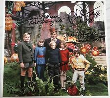 """11"""" X 11"""" WILLY WONKA PHOTO AUTOGRAPHED (SIGNED) BY FIVE + BONUSES!!"""